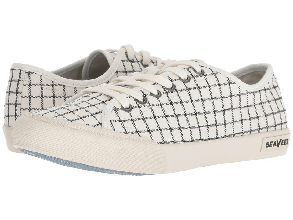 SeaVees Monterey Embroidery (White Windowpane) Women's Shoes