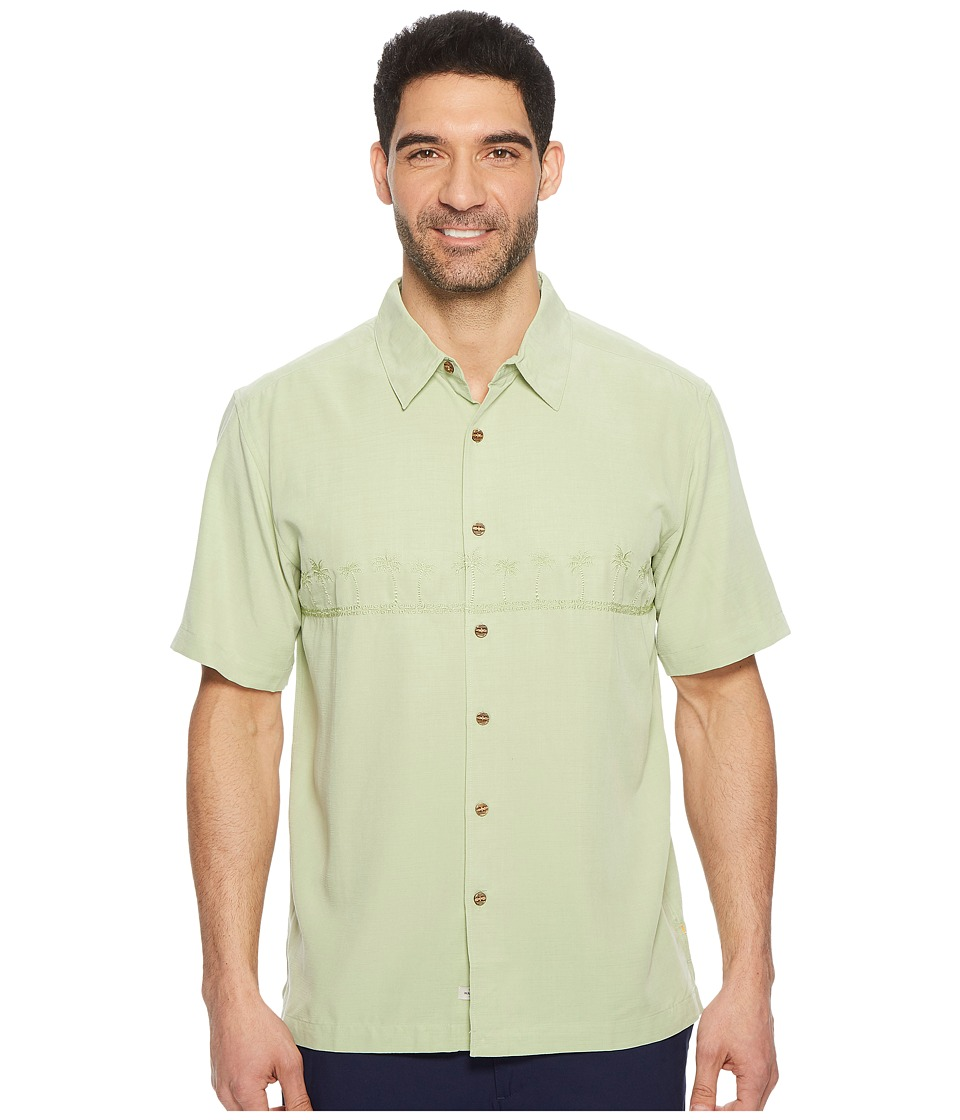 Quiksilver Waterman - Tahiti Palms 4 Traditional Polynosic Woven Top (Reseda) Mens Clothing