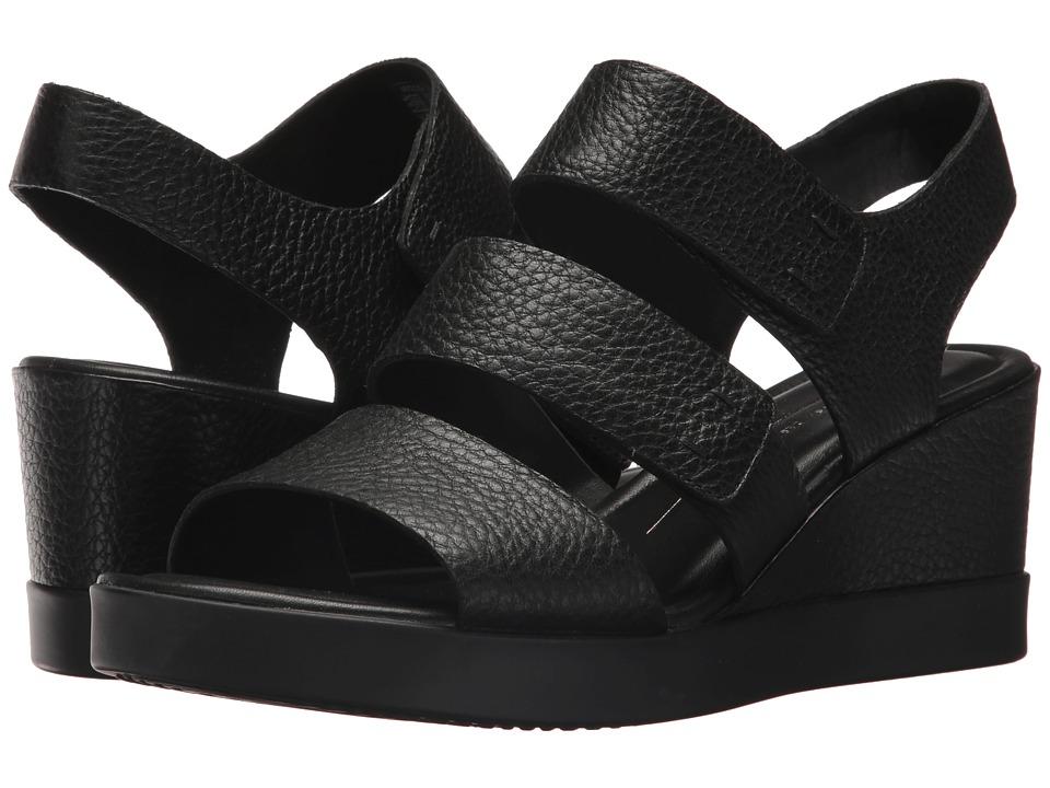 ECCO - Shape Wedge Plateau Sandal (Black Cow Leather) Women's Sandals