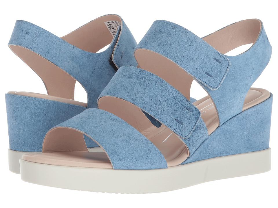 ECCO Shape Wedge Plateau Sandal (Indigo) Sandals