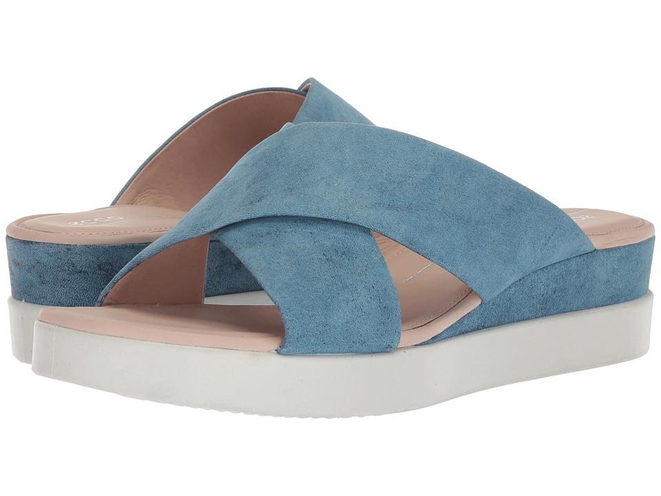 ECCO Touch Slide Sandal (Indigo 7) Sandals