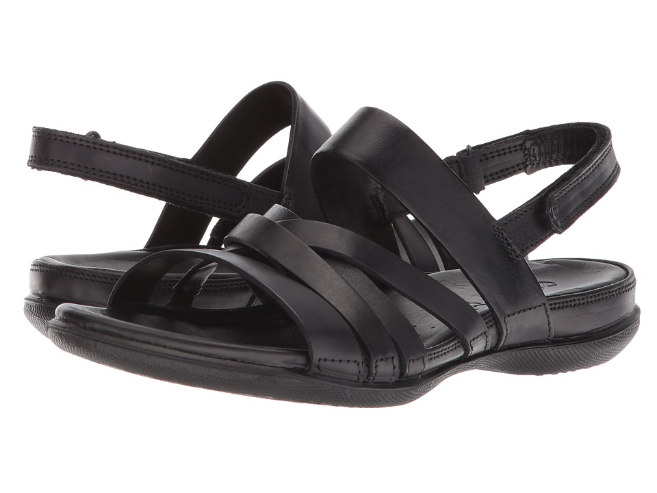 ECCO Flash Casual Sandal (Black Cow Leather) Women