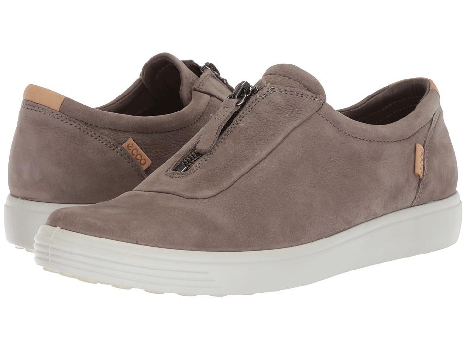 ECCO Soft 7 Zip (Warm Grey Cow Nubuck) Women's Shoes