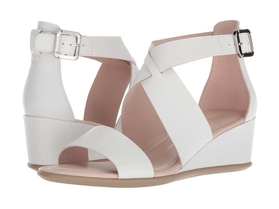 ECCO Shape 35 Wedge Ankle (Bright White Calf Leather) Wedges