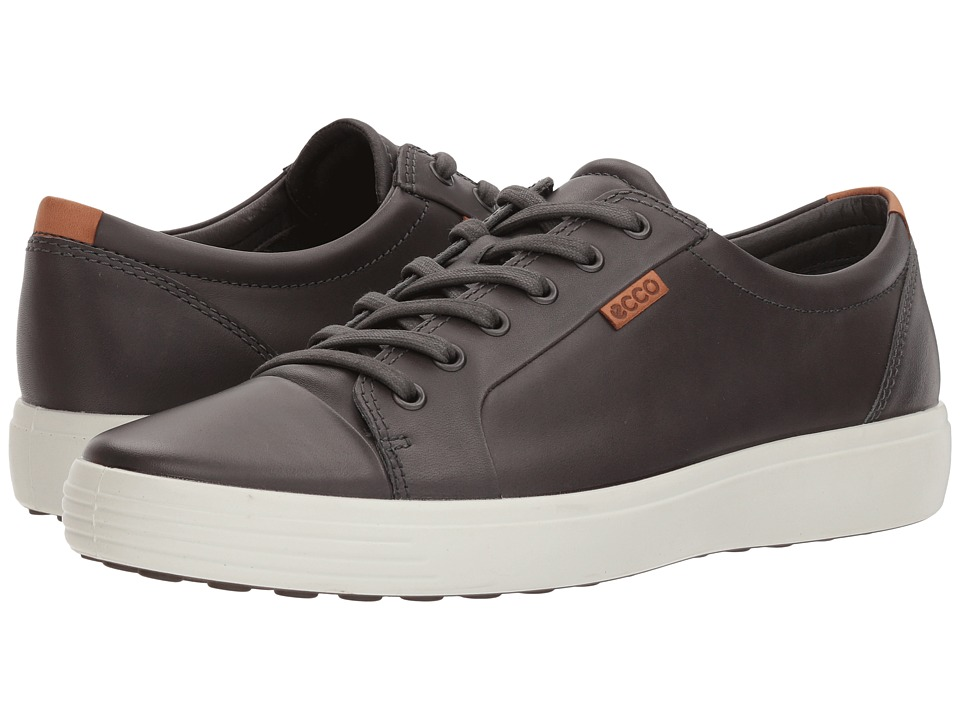 ECCO - Soft VII Sneaker (Magnet) Mens Lace up casual Shoes