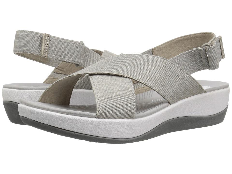 Clarks - Arla Kaydin (Sand/White Heathered Elastic) Womens Shoes
