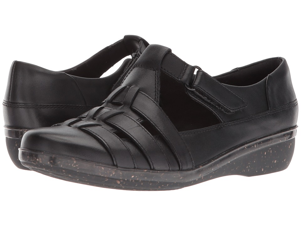 Clarks - Everlay Cape (Black Leather) Womens Shoes