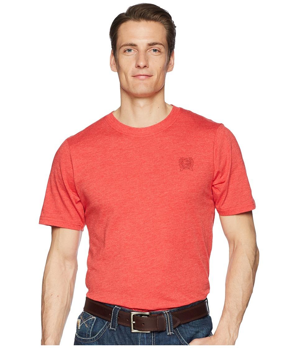 CINCH Short Sleeve Jersey Tee (Heather Red) Men's T Shirt