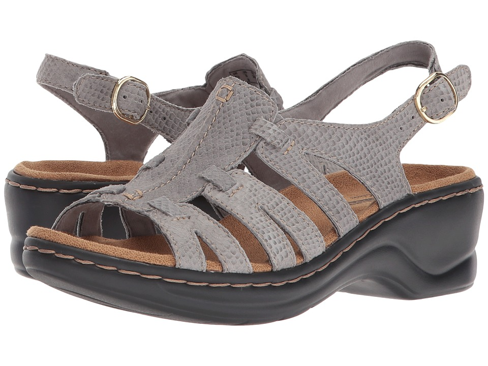 Clarks Lexi Marigold Q (Light Grey Snake Print) Sandals