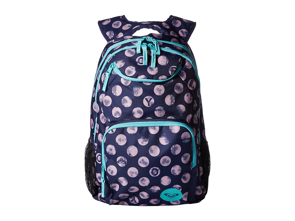 Roxy Shadow Swell Backpack (Patriot Blue Roxy Dots) Backpack Bags