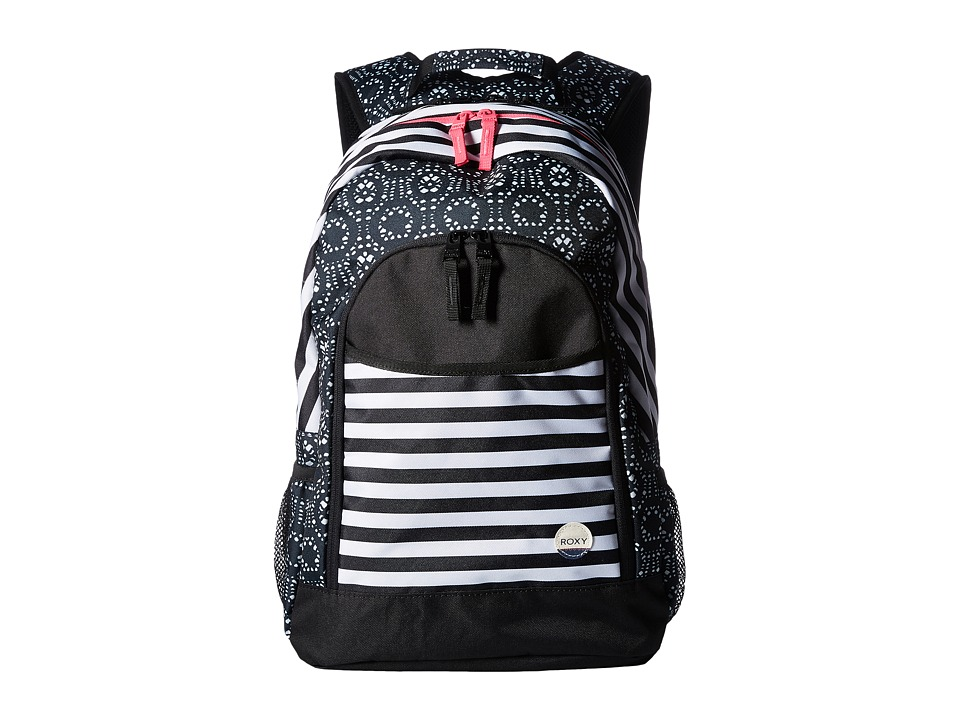 Roxy - Cool Breeze Backpack (True Black Stripe) Backpack Bags