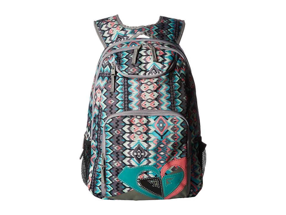 Roxy Shadow Swell Backpack (Baltic Blue Scottsdale Ethnic) Backpack Bags