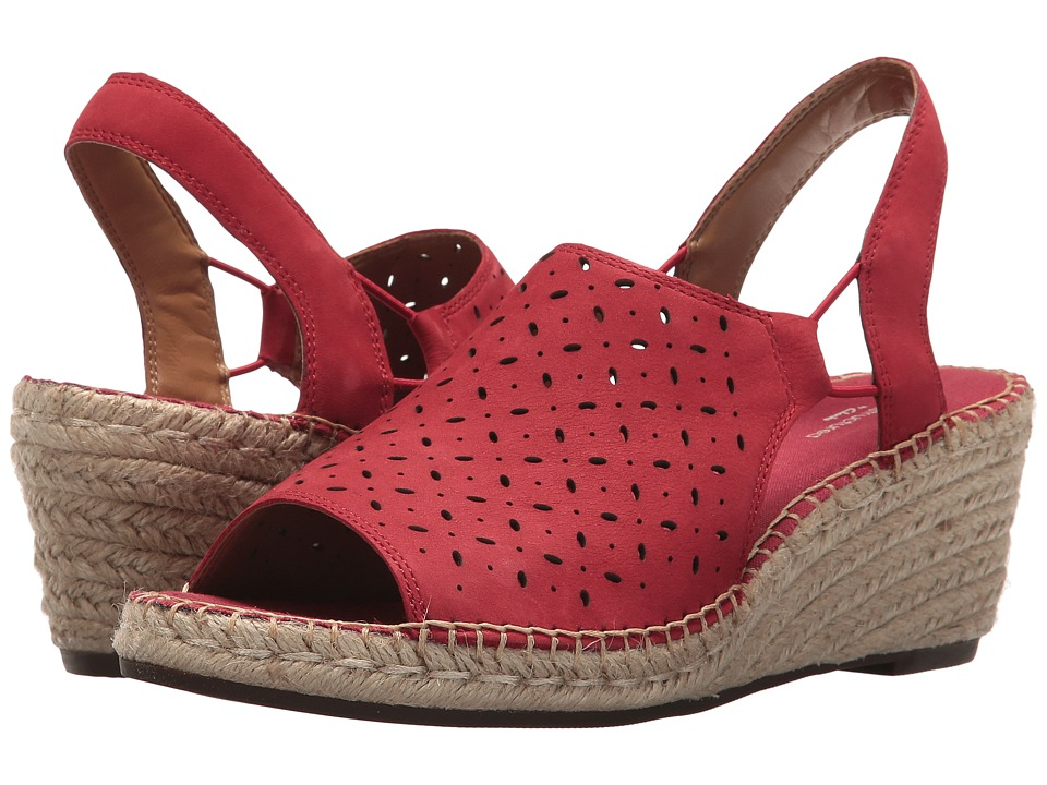 Clarks Petrina Gail (Red Nubuck) Women's Shoes