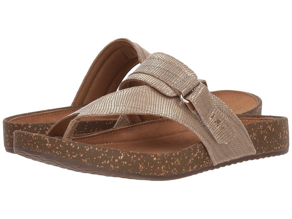 Clarks - Rosilla Durham (Light Gold Metallic Leather) Womens Shoes
