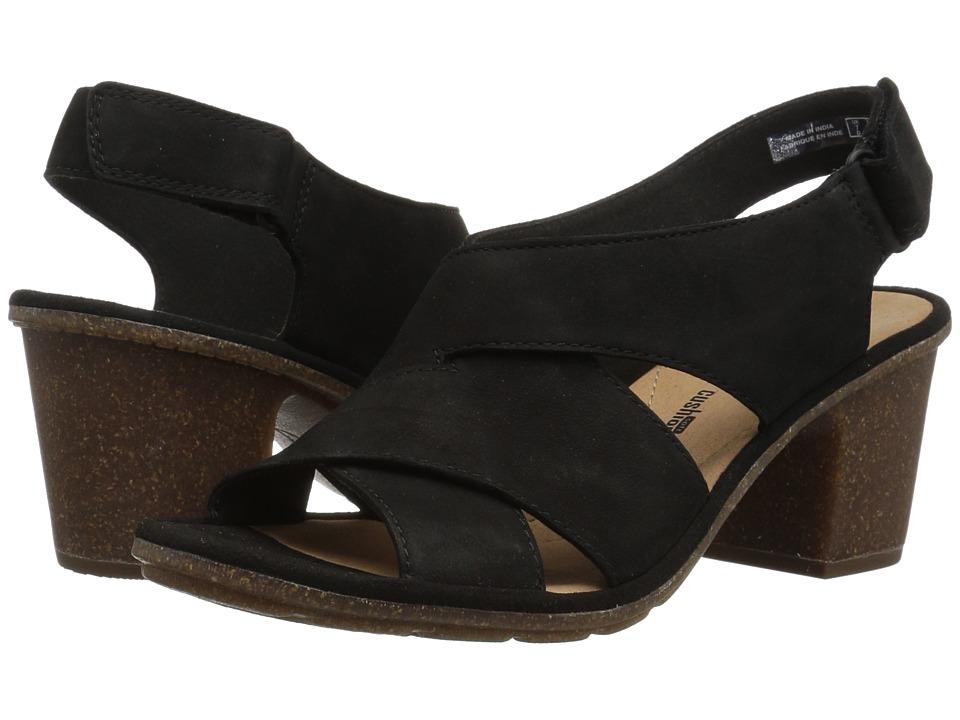 Clarks - Sashlin Nolte (Black Nubuck) Womens Shoes