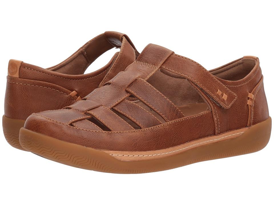 Clarks - Un Haven Cove (Dark Tan Leather) Womens Shoes