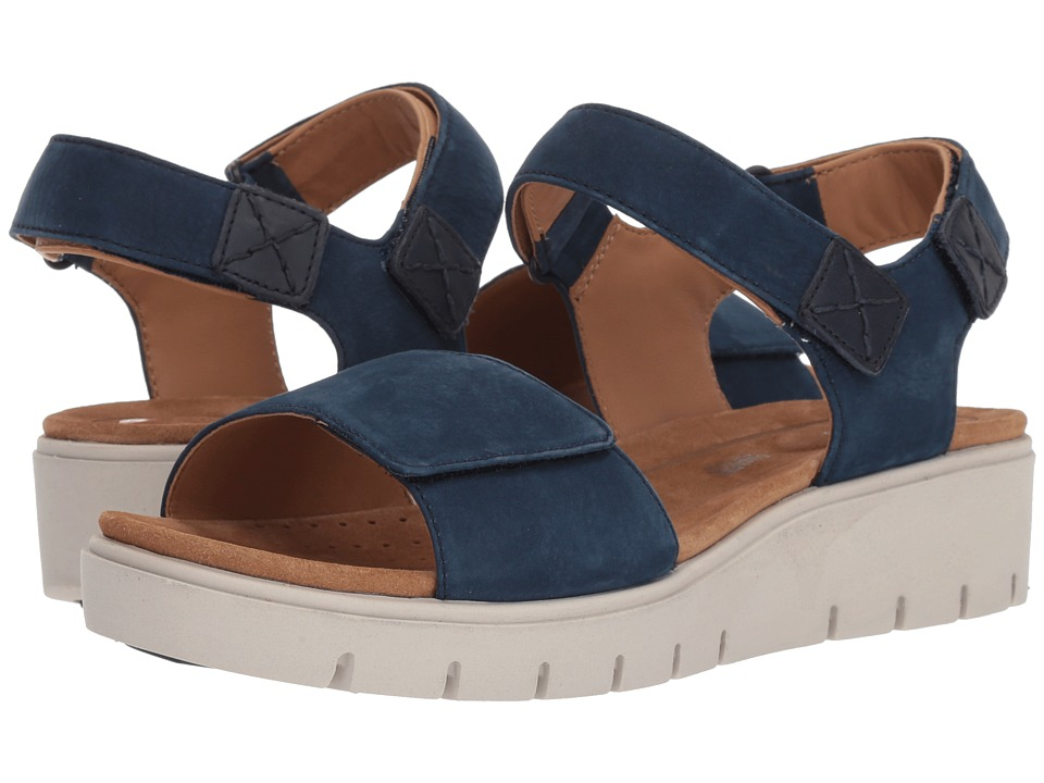 Clarks - Un Karely Bay (Navy Nubuck) Womens Shoes