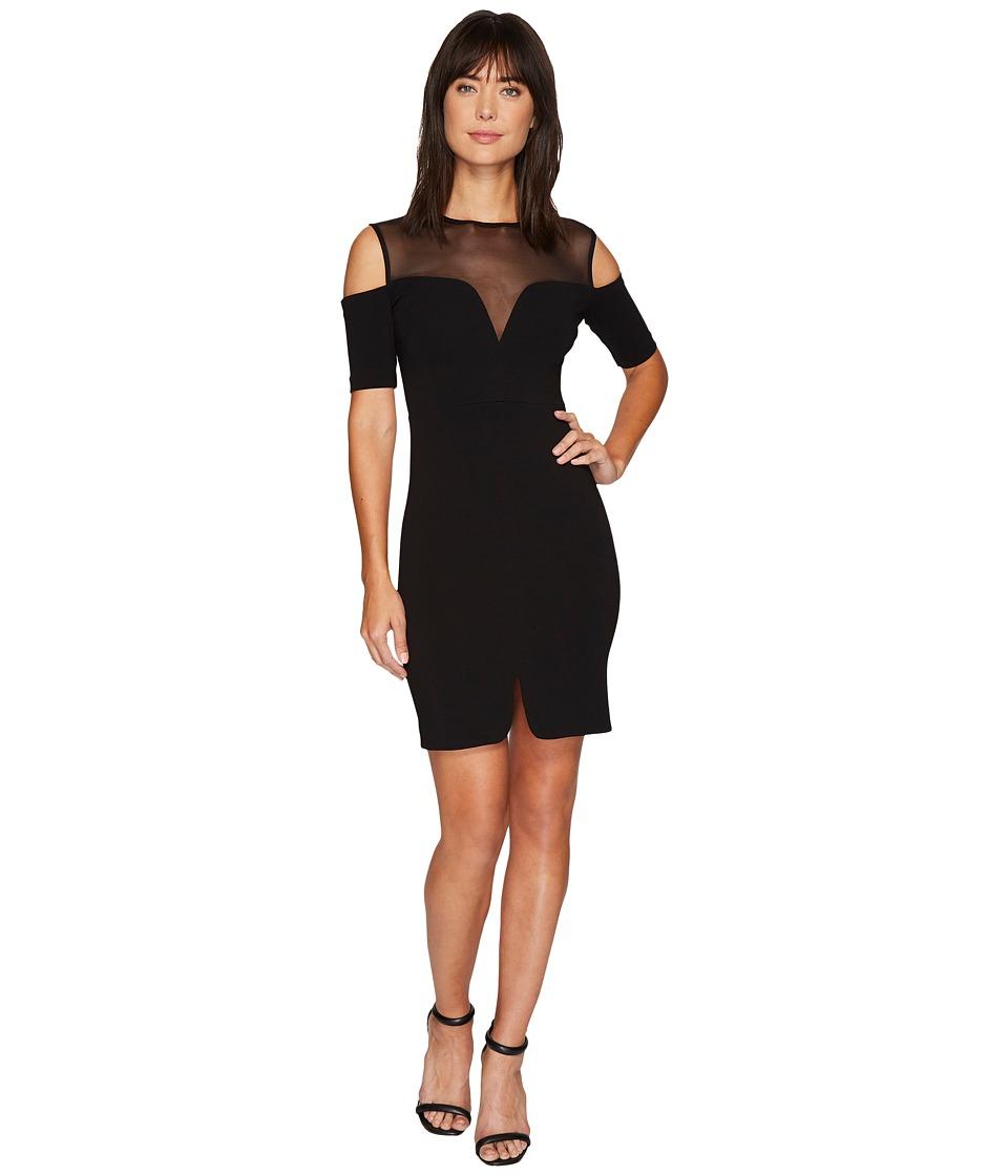 Nicole Miller Cold Shoulder Party Dress (Black) Women