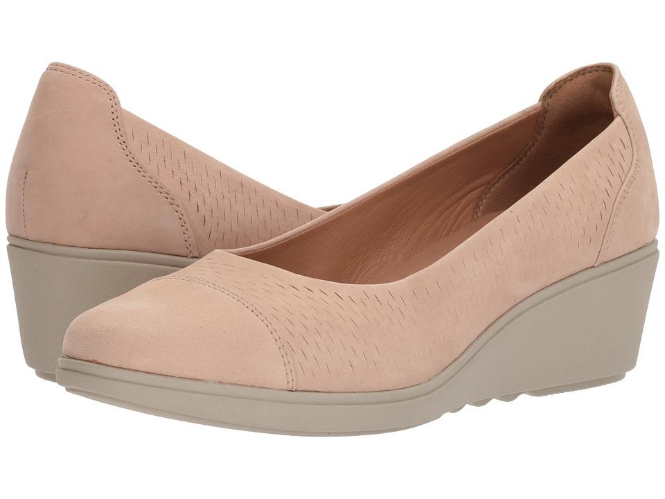 Clarks - Un Tallara Dee (Sand Nubuck) Womens Shoes