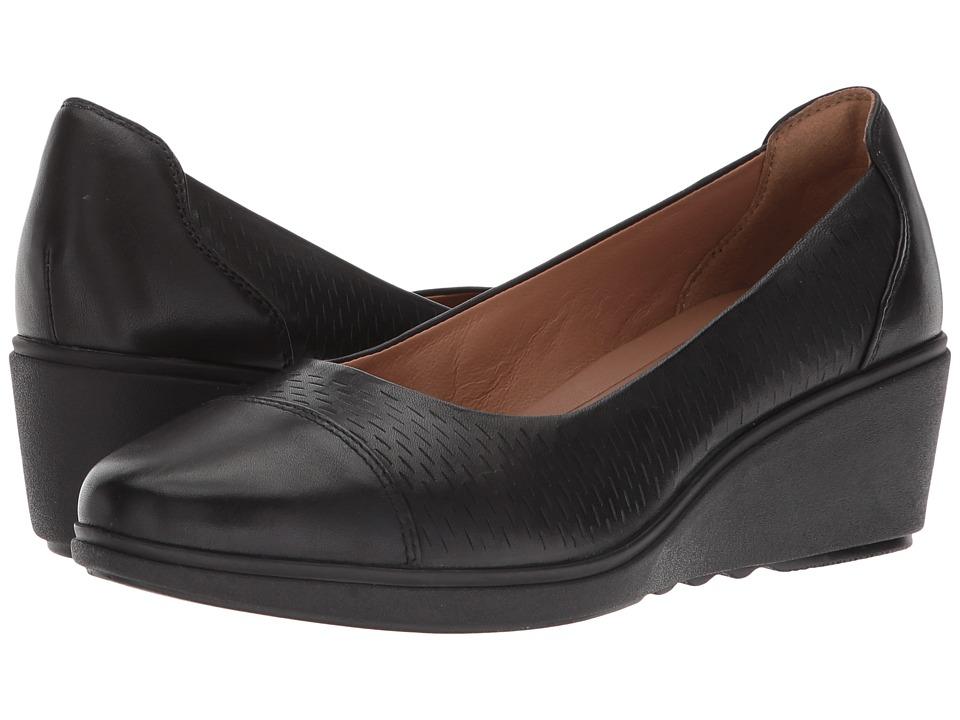 Clarks Un Tallara Dee (Black Leather) Women's Shoes