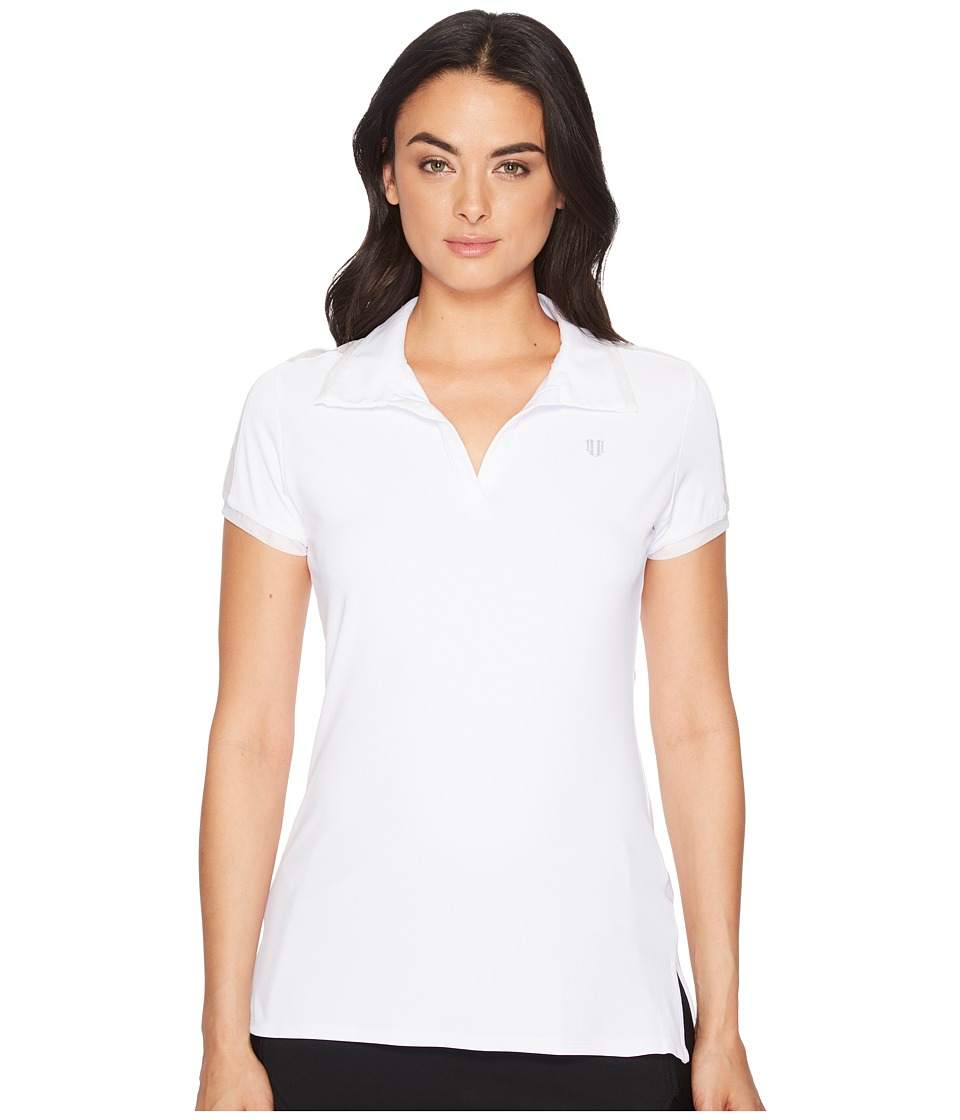 Eleven by Venus Williams - Pique Collection Mentor Polo (White) Womens Short Sleeve Pullover