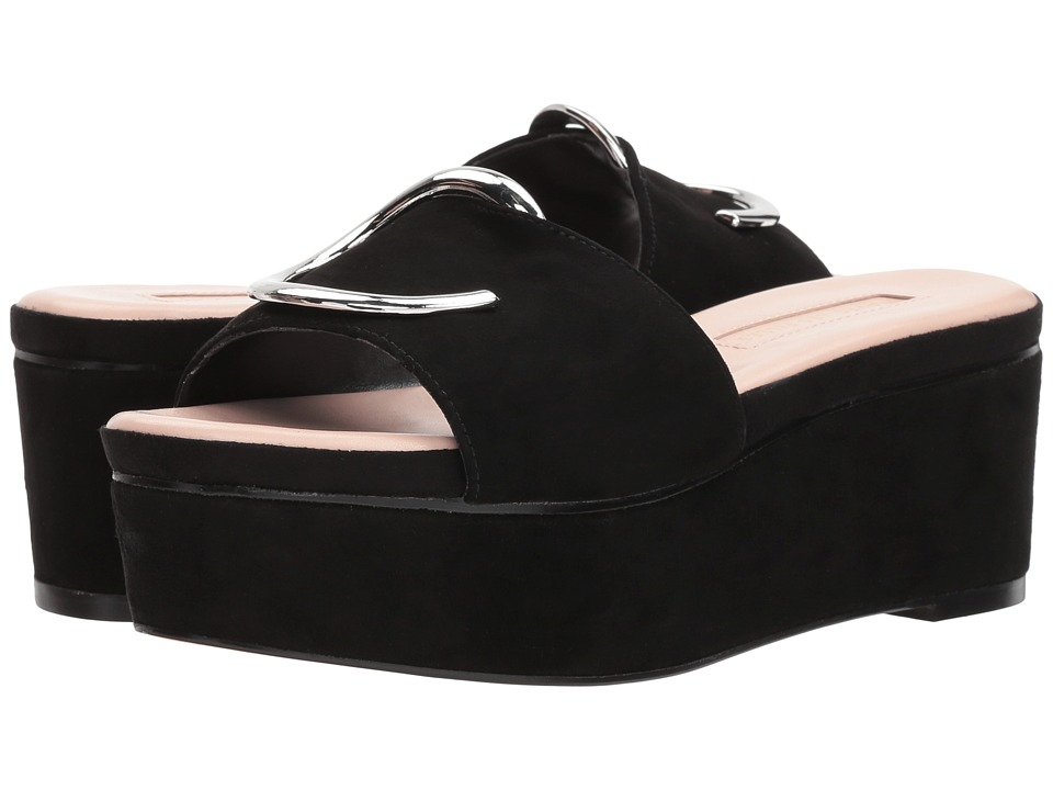 Avec Les Filles - Addison (Black Kid Suede) Womens Shoes