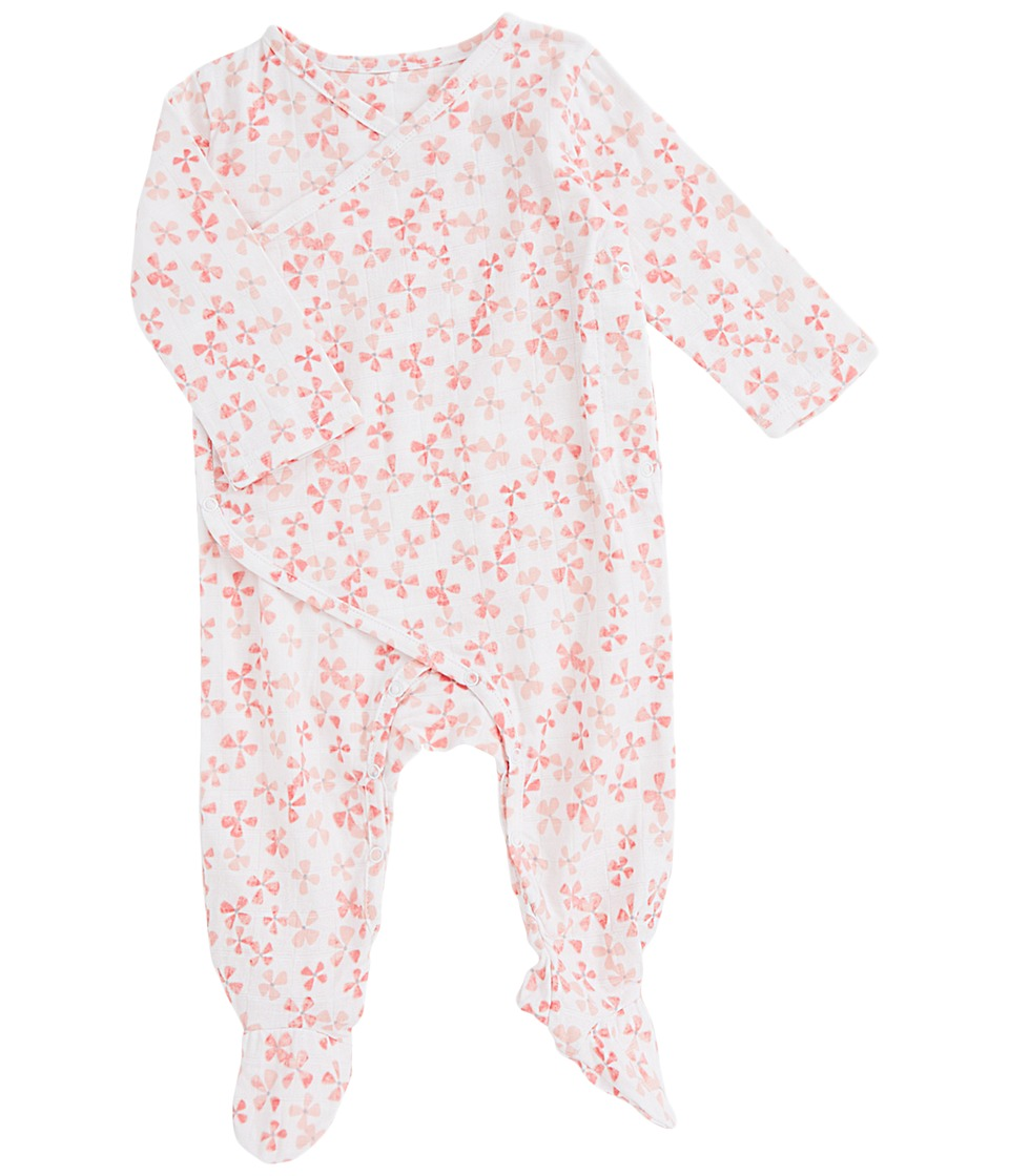 aden + anais - Long Sleeve Kimono One-Piece (Infant) (Blossom) Girls Jumpsuit & Rompers One Piece