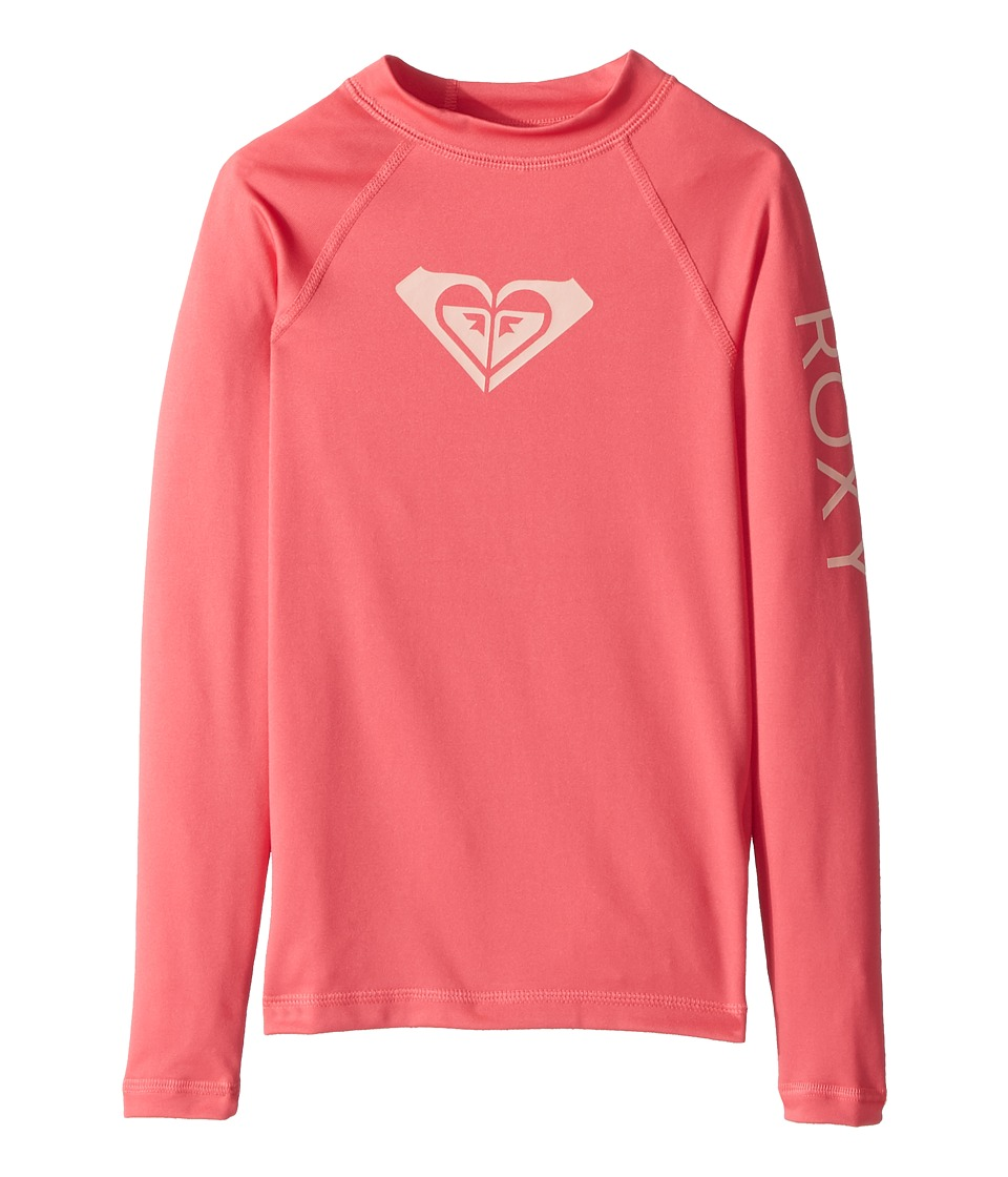 Roxy Kids - Whole Hearted Long Sleeve Rashguard (Big Kids) (Rouge Red) Girls Swimwear
