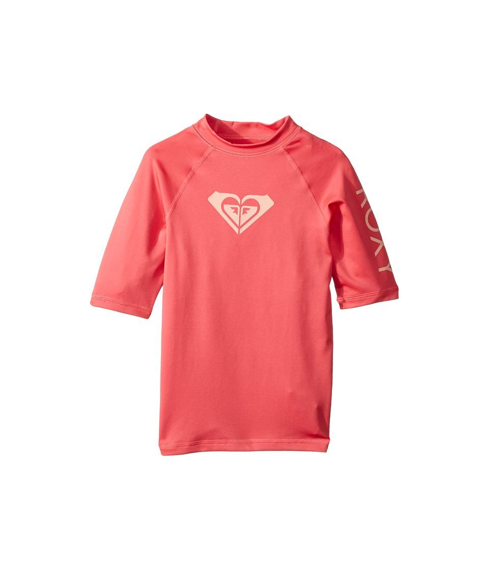 Roxy Kids Whole Hearted Short Sleeve Rashguard (Big Kids) (Rouge Red) Girl