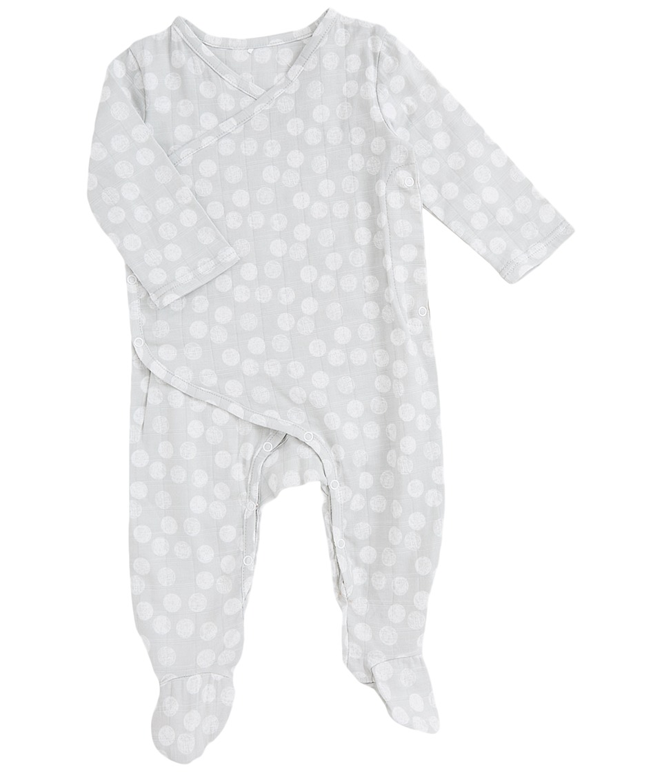 aden + anais - Long Sleeve Kimono One-Piece (Infant) (Moon Dot) Kids Jumpsuit & Rompers One Piece