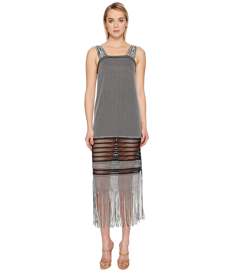 Jonathan Simkhai Knit Fringe Maxi Dress Cover-Up (Black)
