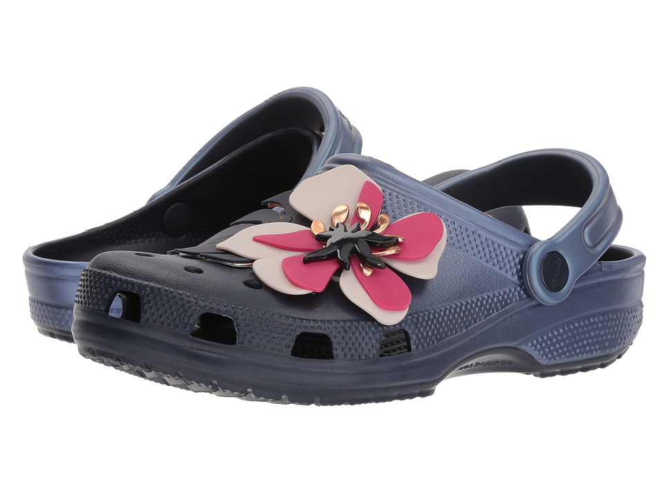 Crocs - Classic Botanical Floral Clog (Navy) Shoes