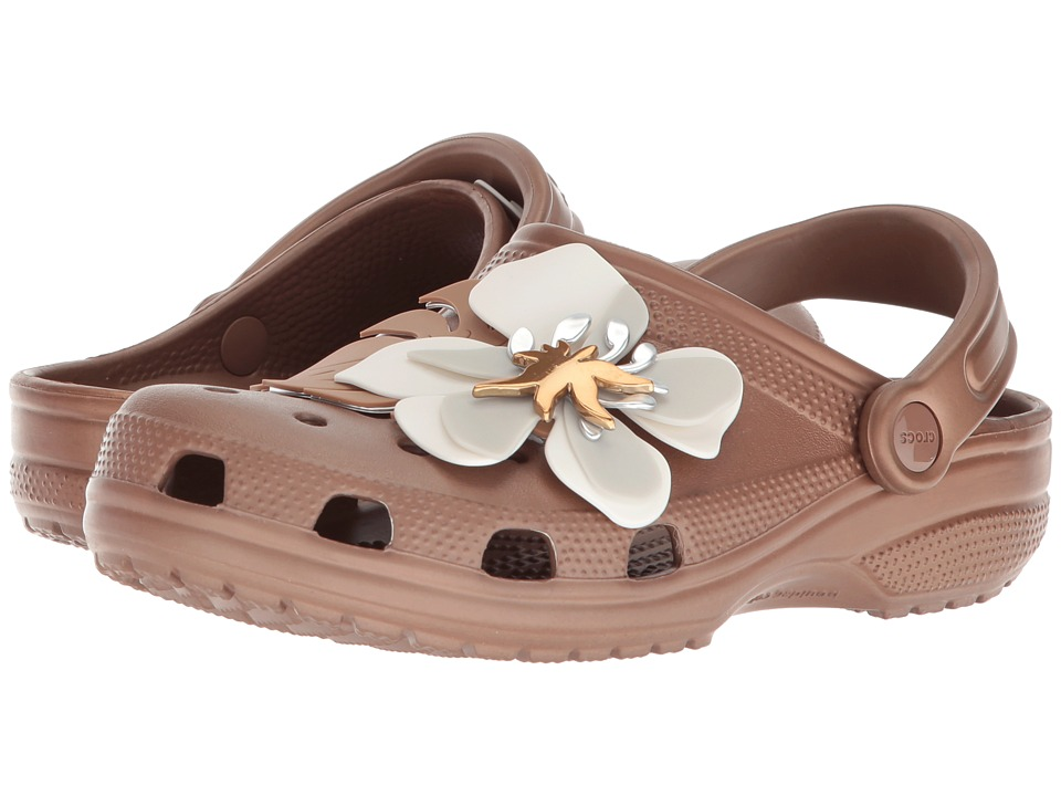 Crocs Classic Botanical Floral Clog (Bronze) Shoes