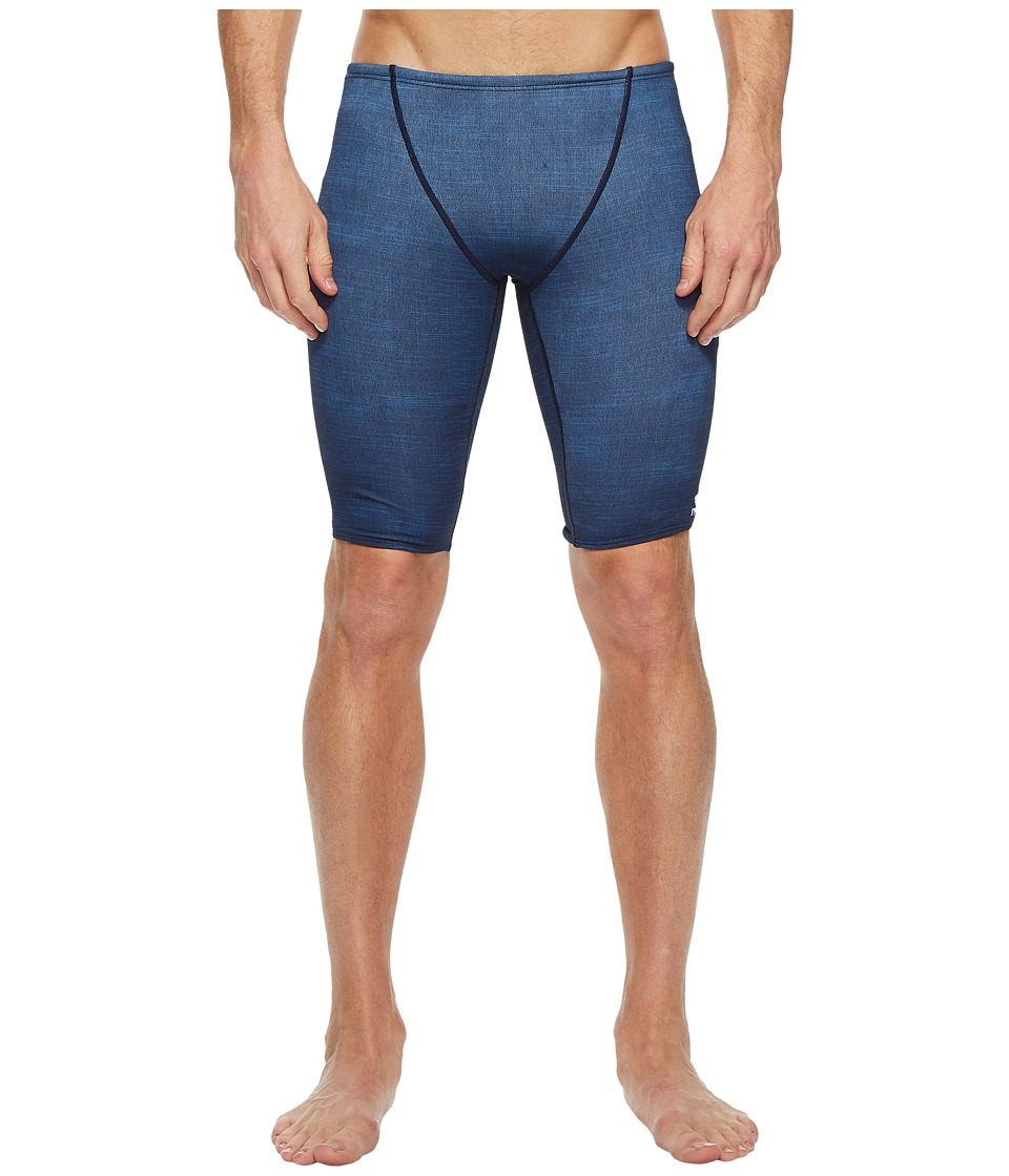 TYR Sandblasted All Over Jammer (Navy) Men's Swimwear