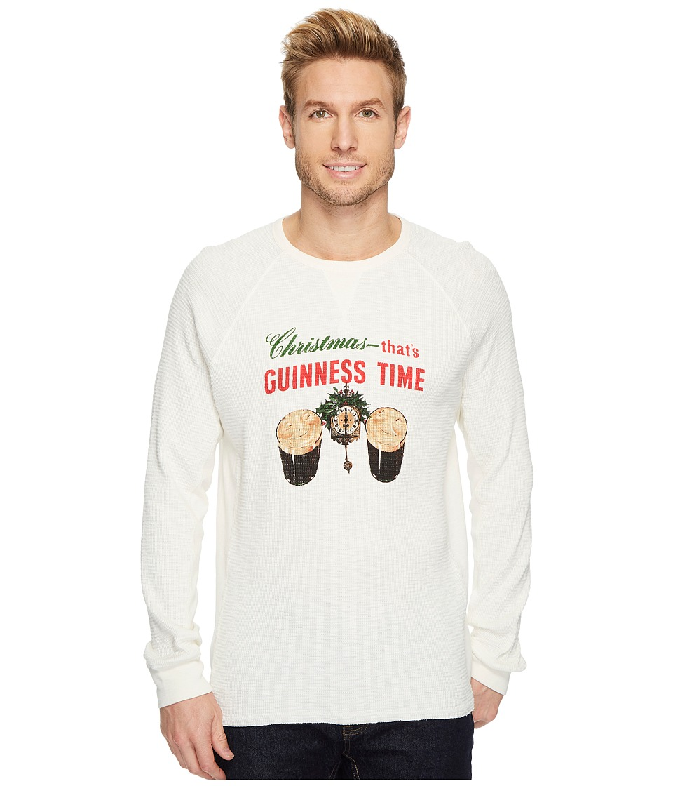Lucky Brand Christmas Guinness Time Graphic Thermal (Marshmallow) Men