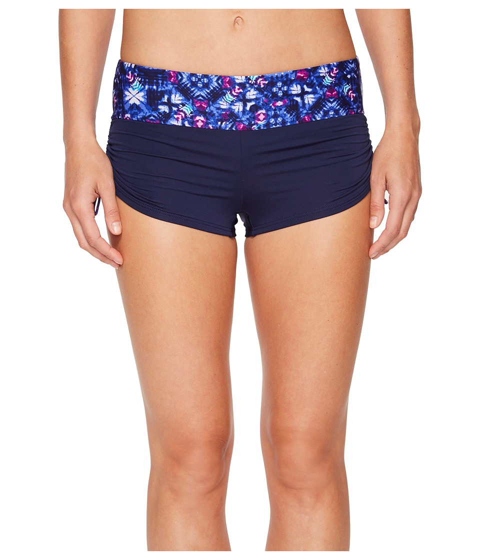 TYR Santa Cruz Della Boyshorts (Navy/Purple) Women