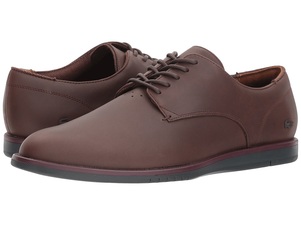 Lacoste - Laccord 417 1 Cam (Dark Brown) Mens Shoes