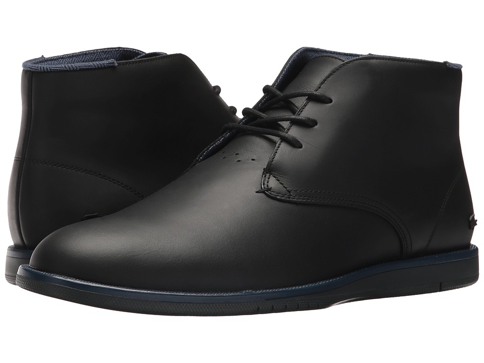 Lacoste - Laccord Chukka 417 1 Cam (Black/Black) Mens Shoes