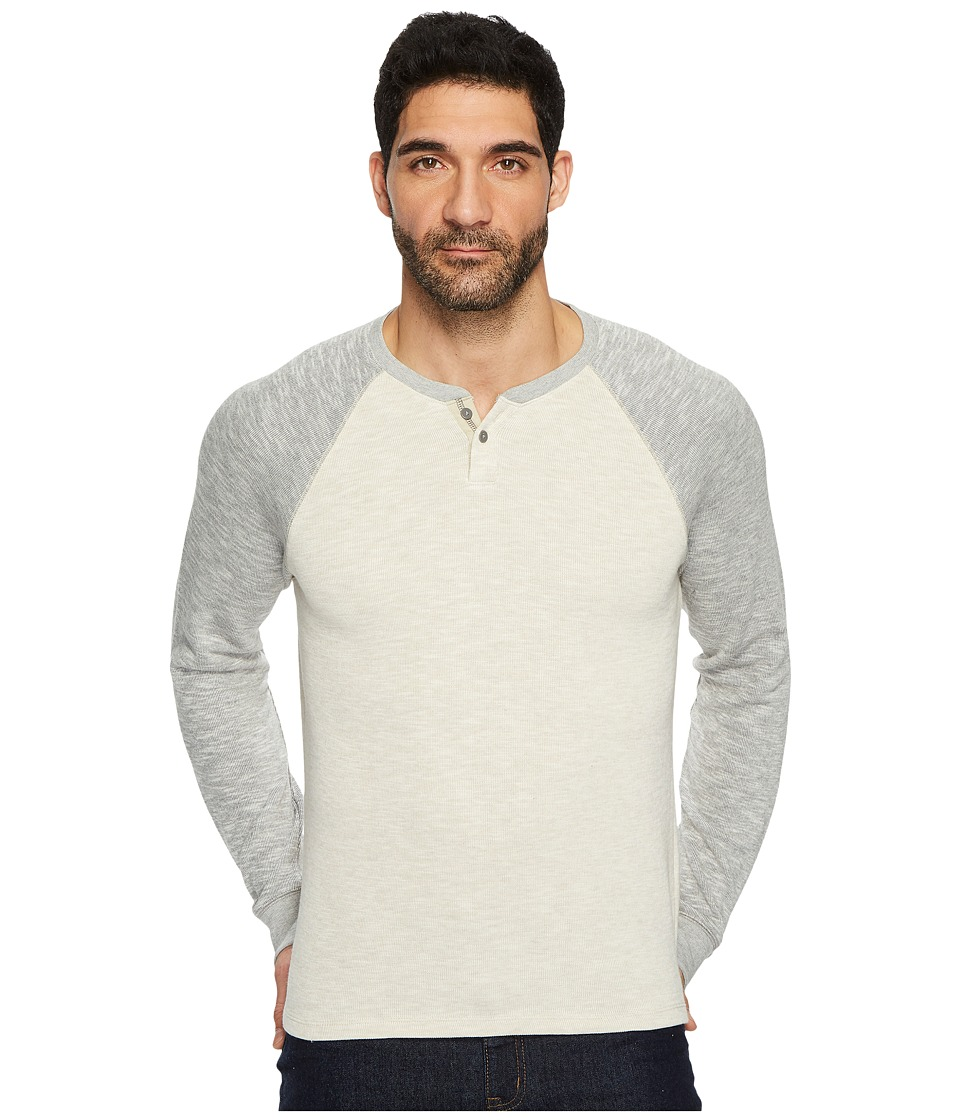Lucky Brand French Notch Neck Tee (Oatmeal) Men
