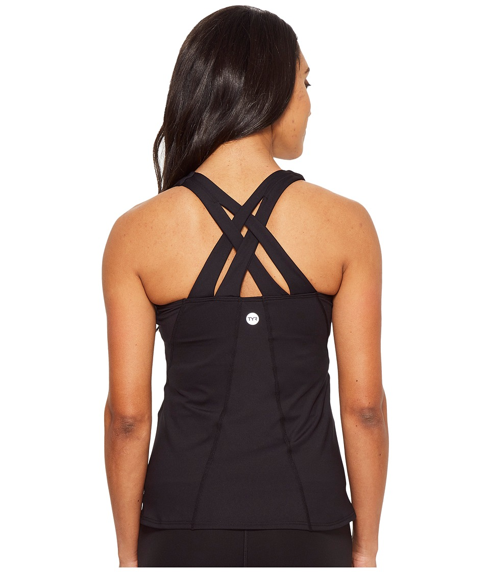 TYR Solid Lola Tank (Black) Women