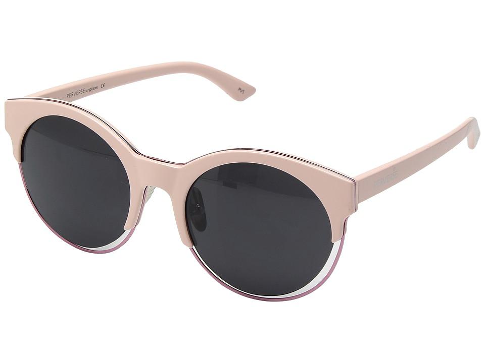 PERVERSE Sunglasses Jaxx (Shiny Baby Pink/Black Floating Lens) Fashion Sunglasses