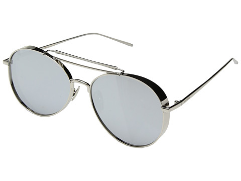 PERVERSE Sunglasses Solid Platinum - Glossy Silver/Smoky Mirrored Lens