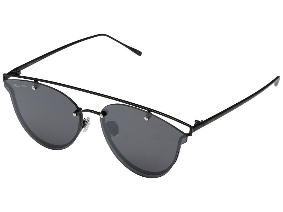 PERVERSE Sunglasses Mae (Matte Black/Black Flat Lens) Fashion Sunglasses