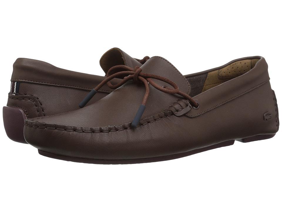 Lacoste Piloter Corde 317 1 Cam (Dark Brown) Men's Shoes