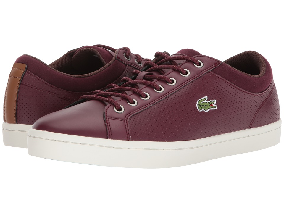 Lacoste - Straightset Sp 317 1 Cam (Burgundy) Mens Shoes