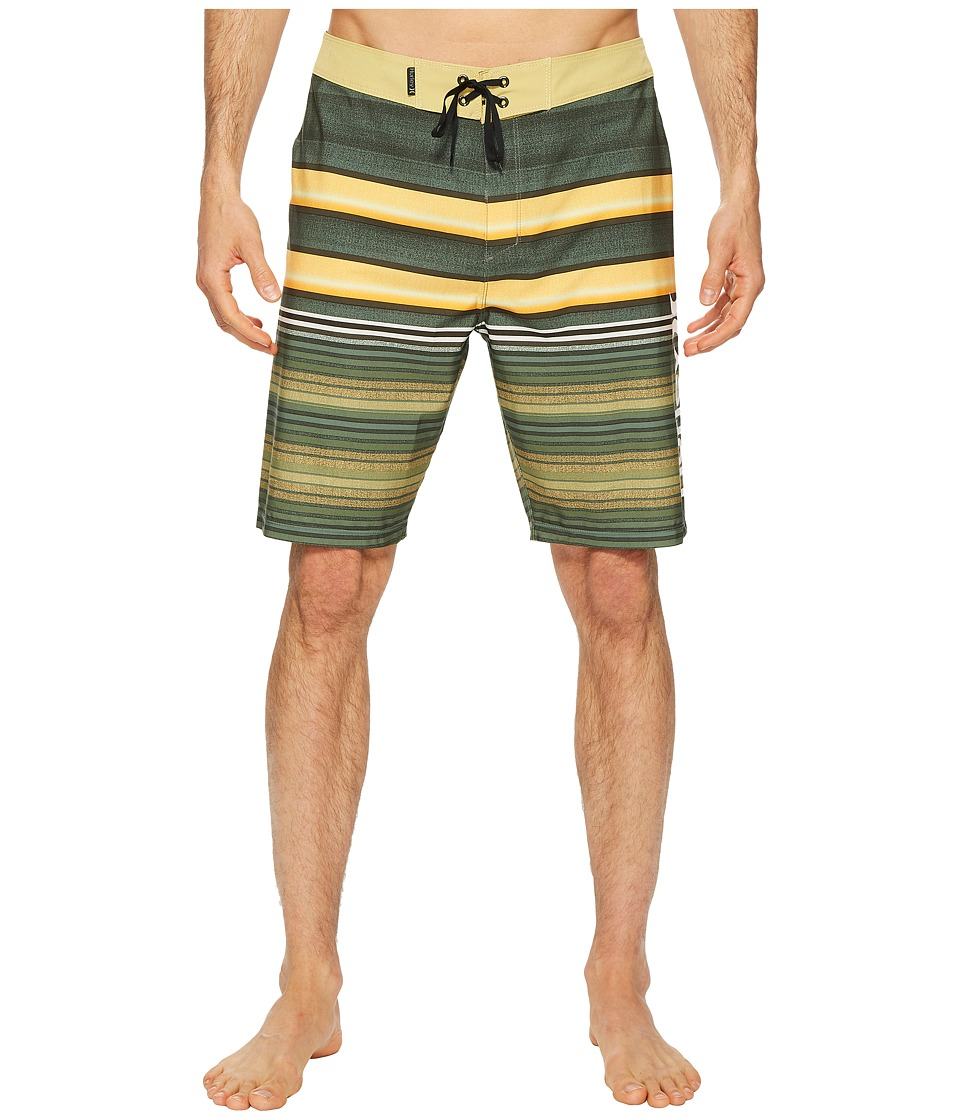 Hurley Phantom Blackball Orange Street 20 Boardshorts (Clay Green) Men