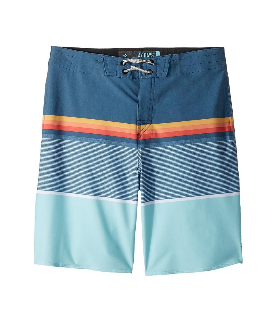 Rip Curl Kids Rapture Layday Boardshorts (Big Kids) (Blue) Boy