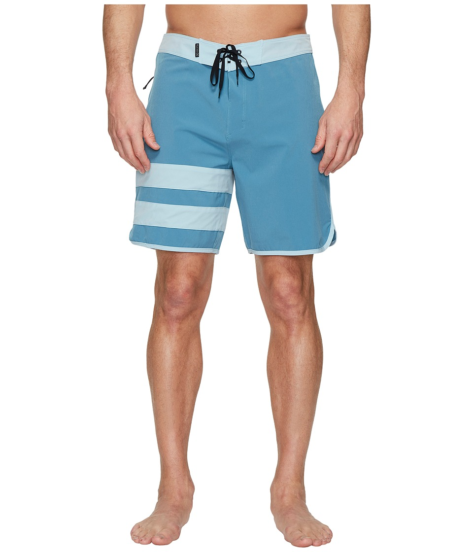 Hurley Phantom Block Party Solid 18 Boardshorts (Noise Aqua) Men