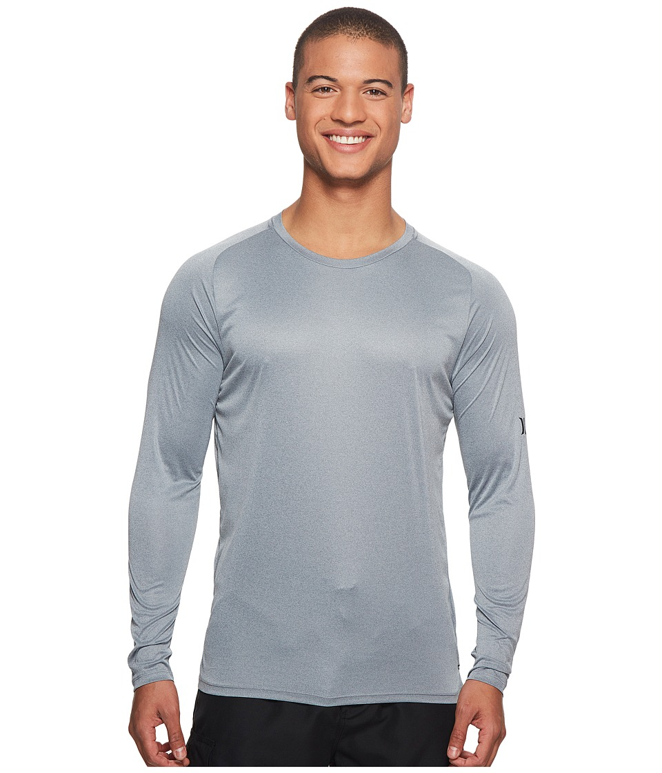 Hurley Icon Quick Dry Long Sleeve Surf Shirt UPF 50+ (Cool Grey Heather) Men