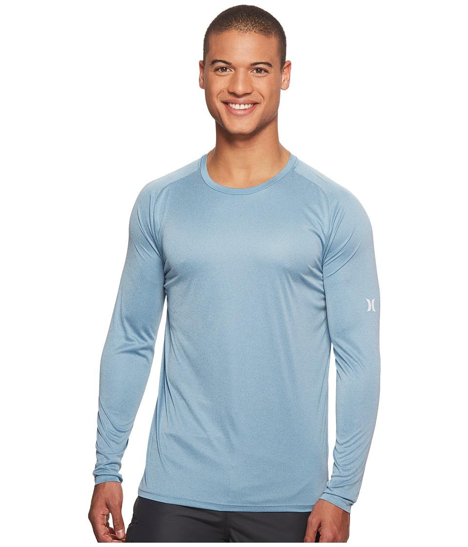 Hurley Icon Quick Dry Long Sleeve Surf Shirt UPF 50+ (Noise Aqua) Men